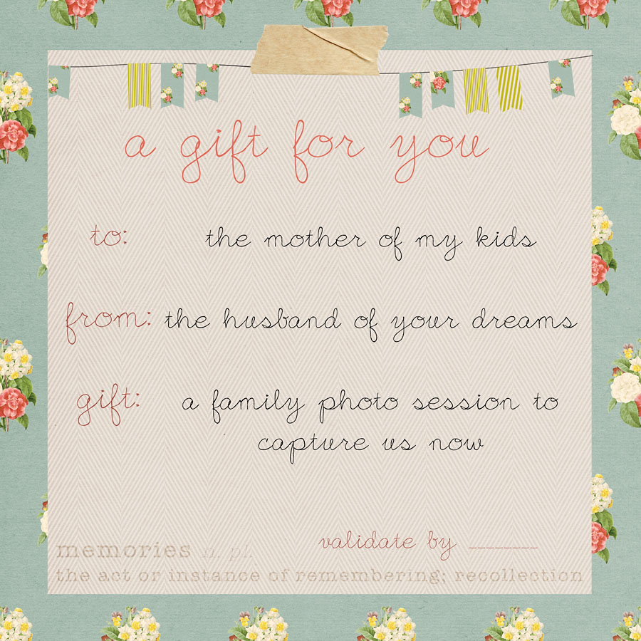 Gift Cards Available | Houston Family Photographer