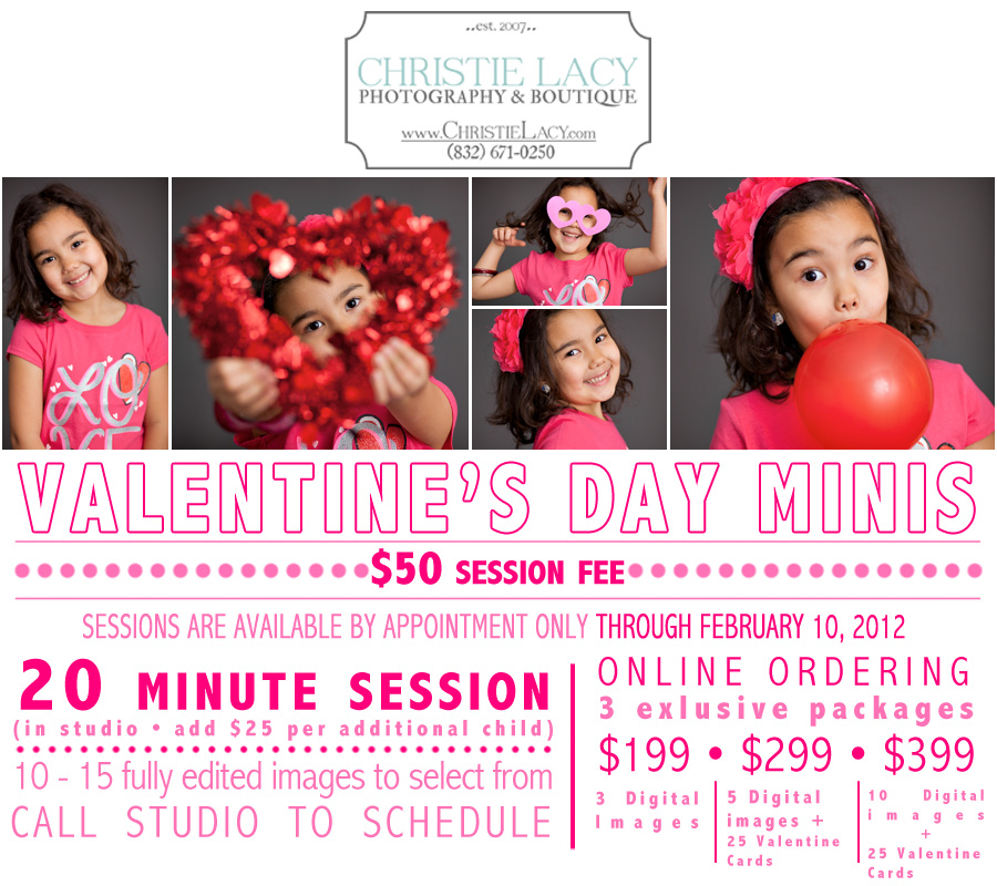 valentine's day mini sessons houston