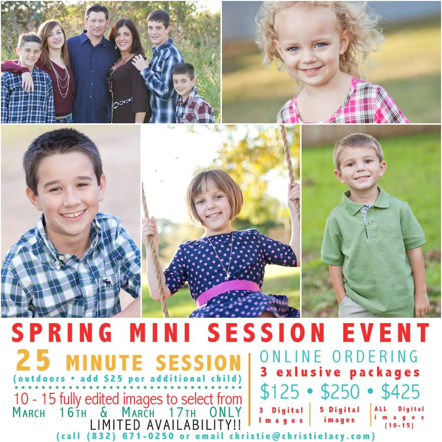 cypress spring mini sessions