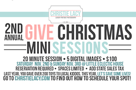 GIVE Christmas 2013 | Cypress Mini Sessions