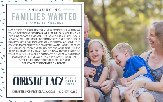 Families Wanted | Cypress Family Photographer